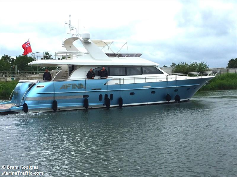 vessel AFINA IMO: 235112282,