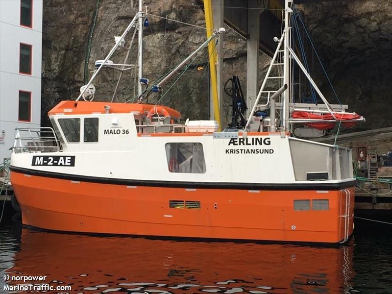 vessel AERLING IMO: 257998600,
