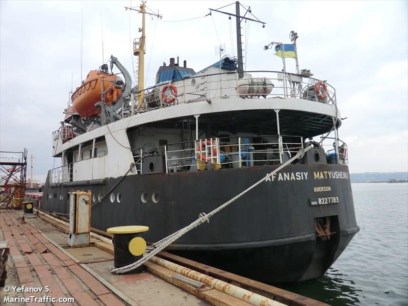 vessel AFANASIY MATYUSHENKO IMO: 8227783,